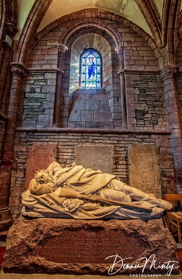 Memorial to John Rae, St. Magnus Cathedral, Kirkwall